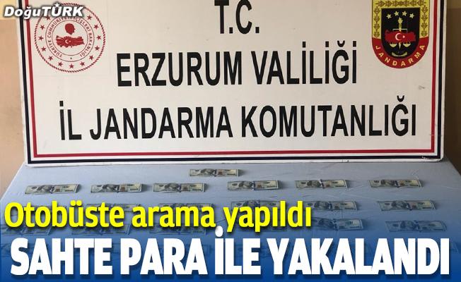Erzurum'da sahte para ile yakalandı