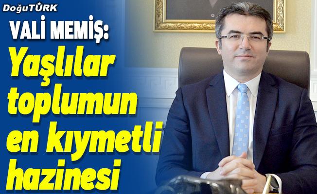 Erzurum Valisi Okay Memiş, Yaşlılar Haftası'nı kutladı
