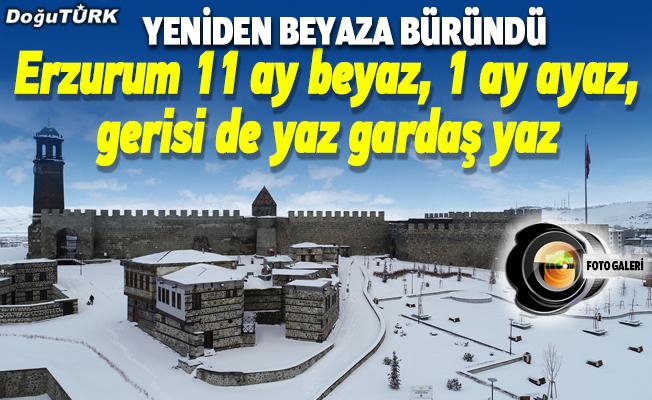"İlkbaharda yağan kar, ""Erzurum 11 ay beyaz, 1 ay ayaz, gerisi de yaz gardaş yaz"" dedirtti"