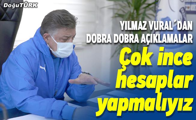 Yılmaz Vural, BB Erzurumspor'u Süper Lig'de tutmanın hesaplarını yapıyor