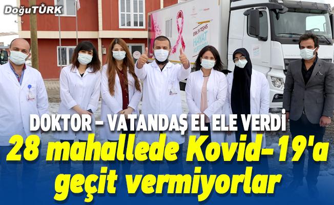 Salgına karşı el ele veren doktor ve vatandaşlar 28 mahallede Kovid-19'a geçit vermiyor