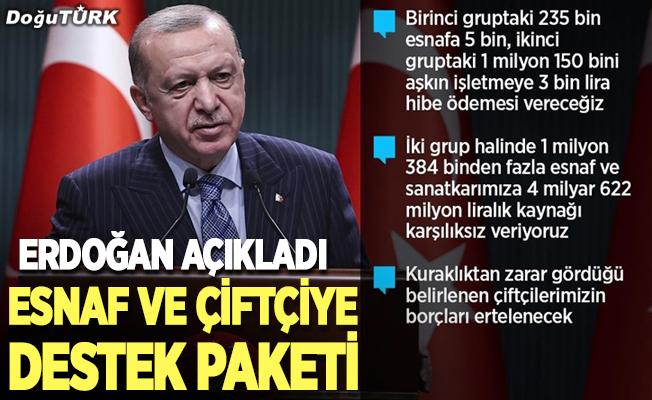 Erdoğan destek paketini açıkladı