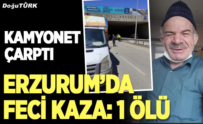 Erzurum'da feci kaza; 1 ölü