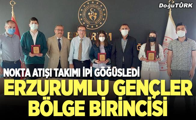 """Erzurumlu gençler """"Gençler arası bilgi yarışması""""nda bölge birincisi oldu"""