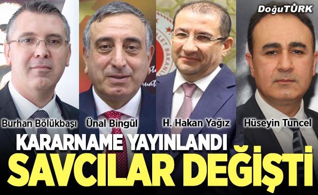 Erzurum'un savcıları değişti