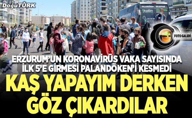 Palandöken'de rezalet: Çocukları sokaklara döktüler