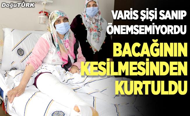 Varis şişi sanıp önemsemediği bacağından 10 kilo tümör çıkartıldı