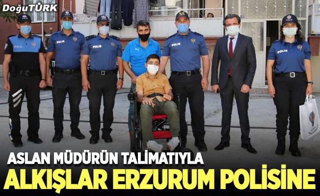 Alkışlar Erzurum polisine