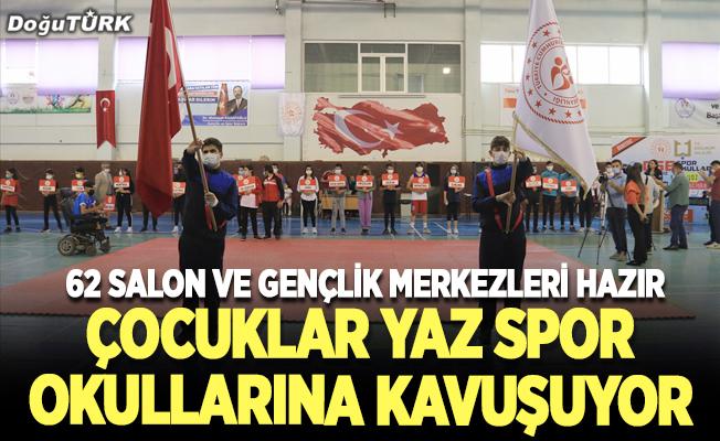 Erzurum'da çocuklar yaz spor okullarına kavuşuyor