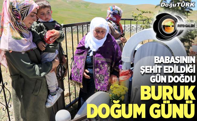 Terör örgütü PKK'nın katlettiği babasının mezarı başında buruk doğum günü..