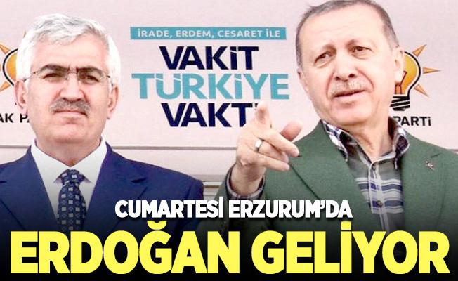 Cumhurbaşkanı Erdoğan, Erzurum'a geliyor