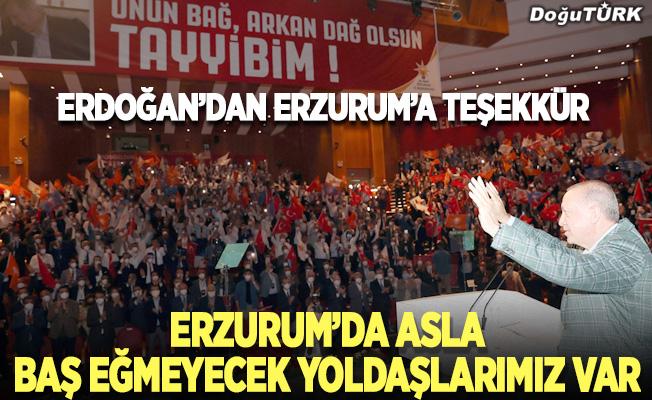 Erdoğan'dan Erzurum'a teşekkür