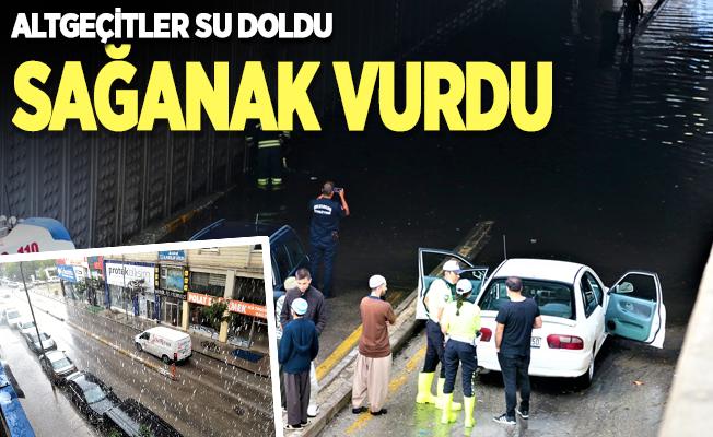 Erzurum'da sağanak etkili oldu