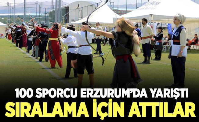 Okçular Erzurum'da sıralama için ter döktü