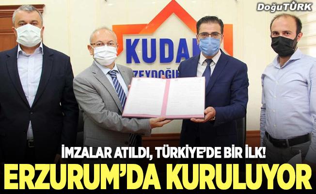 Türkiye'de bir ilk, Erzurum'da kuruluyor