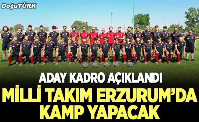 18 Yaş Altı Milli Takım Erzurum'da kamp yapacak