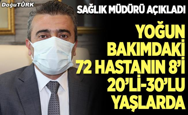Erzurum'da 72 hasta yoğun bakımda...