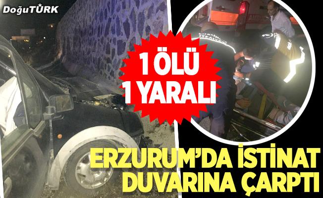 Erzurum'da feci kaza; 1 ölü, 1 yaralı