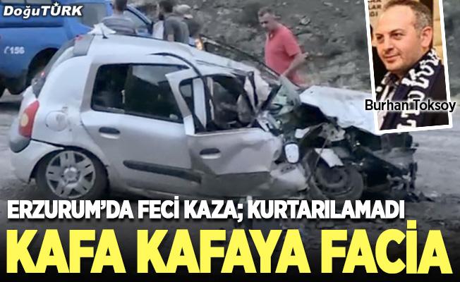 Erzurum'da feci kaza, kurtarılamadı
