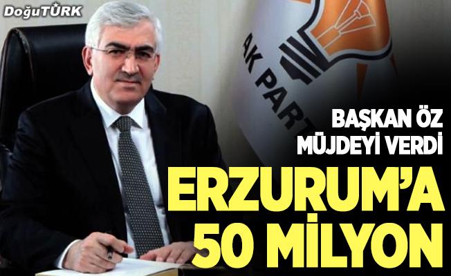 Erzurum'da eğitime 50 milyonluk dev destek
