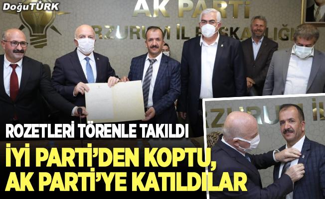 İYİ Parti'den koptu, AK Parti'ye katıldılar