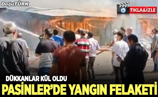 Pasinler'de yangın felaketi