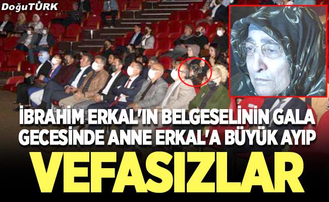İbrahim Erkal'ın belgeselinin gala gecesinde anne Erkal'a büyük ayıp