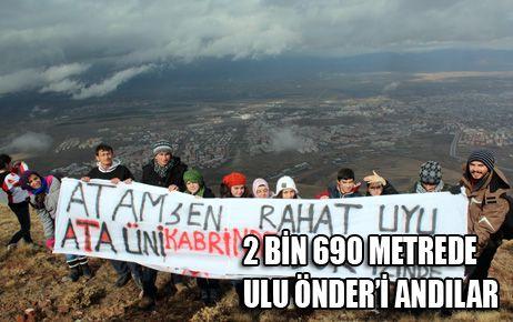 2 BİN 690 METREDE ULU ÖNDER'İ ANDILAR