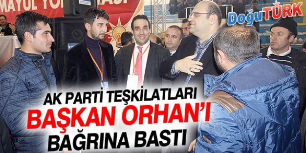 AK PARTİ TEŞKİLATLARINDAN BAŞKAN ORHAN'A SEVGİ SELİ