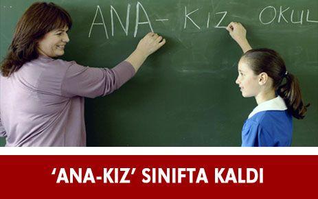 ANA- KIZ SINIFTA KALDIK