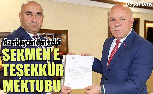Bakan Memmedyarov'dan Sekmen'e teşekkür mektubu