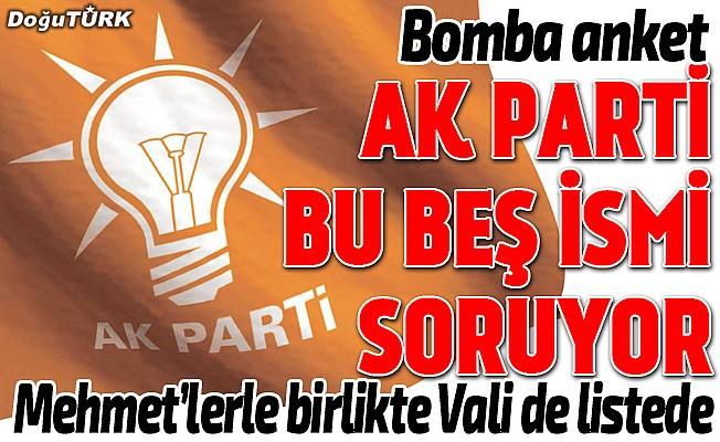 AK Parti'den yeni anket: Bu beş isim soruluyor