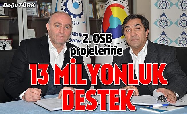 2. OSB projelerine 13 milyonluk CMDP desteği