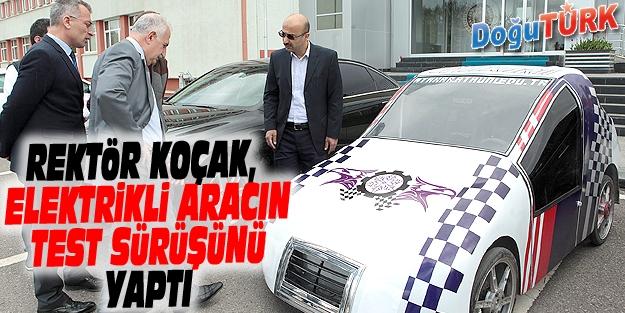 ATAKAR II ELEKTRİKLİ ARACININ İLK TEST SÜRÜŞÜ