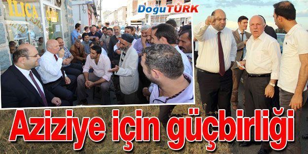 BAŞKAN SEKMEN, AZİZİYE'YE ÇIKARMA YAPTI