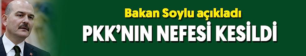 <b>BAKAN SOYLU AÇIKLADI! PKK&#039;NIN NEFESİ KESİLDİ</b>