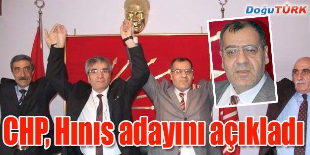 CHP HINIS ADAYINI AÇIKLADI