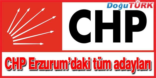 CHP'NİN ERZURUM'DAKİ TÜM ADAYLARI BELLİ OLDU