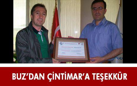 ÇİNTİMAR'A BUZ PATENİ FEDERASYONU'NDAN TEŞEKKÜR