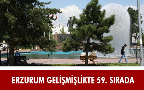 ERZURUM GELİŞMİŞLİKTE 59'UNCU