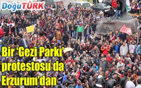 ERZURUM'DA 'GEZİ PARKI' PROTESTOSU