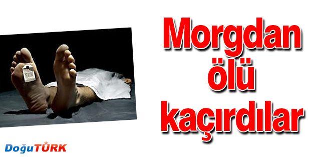 ERZURUM'DA MORGTAN ÖLÜ KAÇIRDILAR