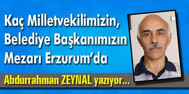 Kaç Milletvekilimizin, Belediye Başkanımızın Mezarı Erzurum'da