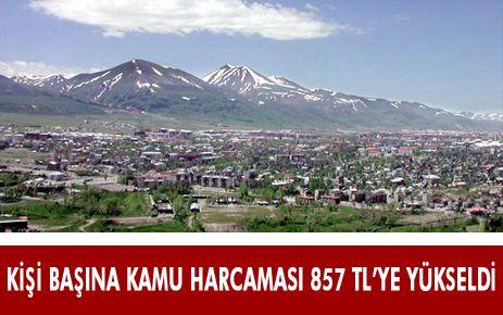 KİŞİ BAŞINA KAMU HARCAMASI 857 TL'YE YÜKSELDİ
