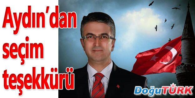 MHP ADAYI PROF. DR. AYDIN'DAN SEÇİM TEŞEKKÜRÜ