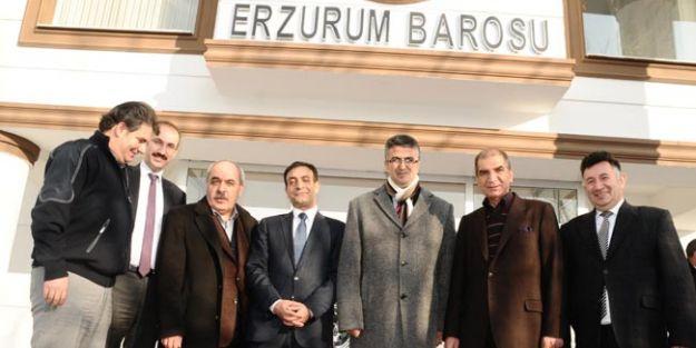 MHP'Lİ AYDIN'DAN BARO BAŞKANI TERZİOĞLU'NA NEZAKET ZİYARETİ