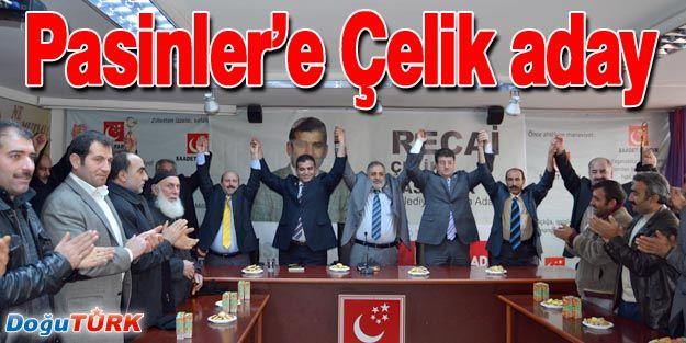 PASİNLER'E ÇELİK ADAY