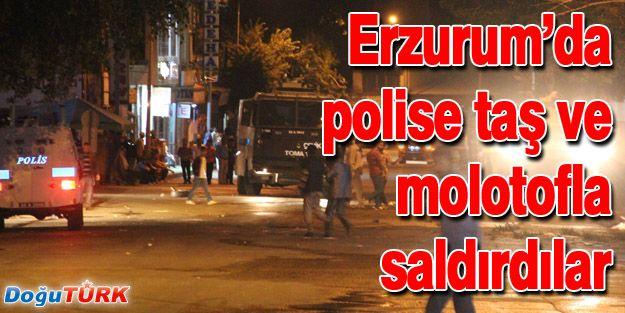 POLİSE TAŞ VE MOLOTOFLARLA SALDIRDILAR