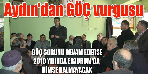 PROF. DR. AYDIN, 'GÖÇ'E DİKKAT ÇEKTİ
