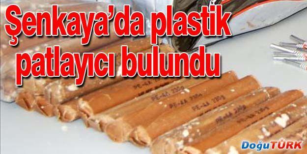 ŞENKAYA'DA ŞOK: 1,1 KG PLASTİK PATLAYICI BULUNDU